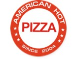 Логотип American Hot Pizza, служба доставки готовых блюд